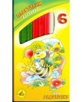 Картинка к книге Пластилин восковой - Пластилин восковой Пчелка 6 цветов со стеком (280029Н)