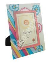 "Картинка к книге Pioneer - Фоторамка 10х15 см ""Blue & pink flo on stripes"" (9567)"