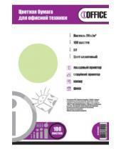 """Картинка к книге Proff - Бумага цветная """"iOffice"""" A4, 100 листов , салатовая пастельная (IO-8010003)"""