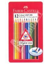 Картинка к книге Faber-Castell - Карандаши 12 цветов GRIP 2001, в металлической коробке (112413)