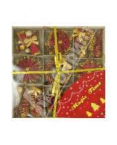 Картинка к книге Новогодние украшения - Новогоднее подвесное украшение из соломки (25209)