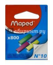 Картинка к книге MAPED - Скобы для степлера №10, 800 шт., цветные (324706)