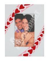 """Картинка к книге Pioneer - Фоторамка металлическая """"Hearts pink"""" 6х8 см (11690)"""