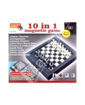 Картинка к книге JUN - Шахматы магнитные 10 в 1 (7110H)