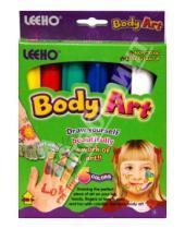 Картинка к книге LEEHO - Мелки для тела 6 цветов (BCR-8SE-6/543489)