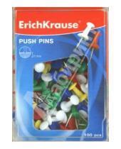 Картинка к книге Erich Krause - Силовые кнопки-гвоздики цветные, 100 штук (19749)