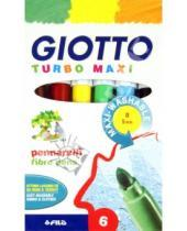 """Картинка к книге Fila - Фломастеры 6 цветов """"Turbo Maxi"""" утолщенные (453000)"""