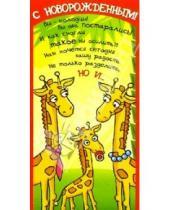 Картинка к книге Сфера - Д-048/С новорожденным/открытка кармашек для денег