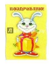 Картинка к книге Сфера - М-52/Поздравляю. Зайчонок/открытка вырубка